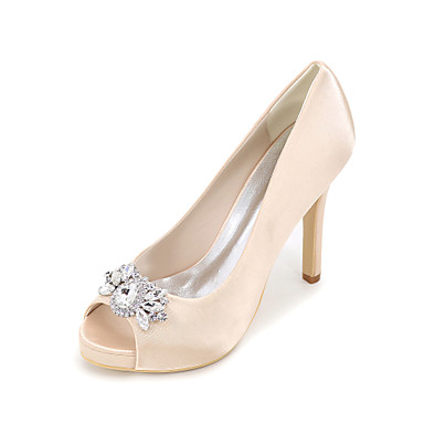 Women 39 S Heels Spring Summer Fall Platform Silk Wedding Party