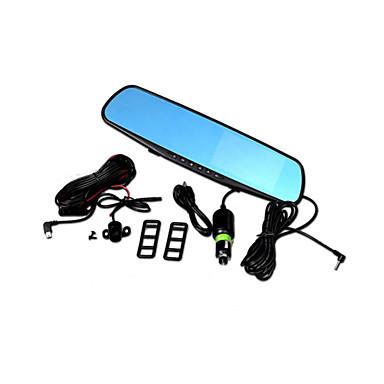 Buy D79 Driving Recorder Dual Lens Rear View Mirror 1080P HD 4.3 Inch Screen Anti String Blue DVR