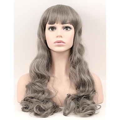 women synthetic wigs capless long very long natural wave