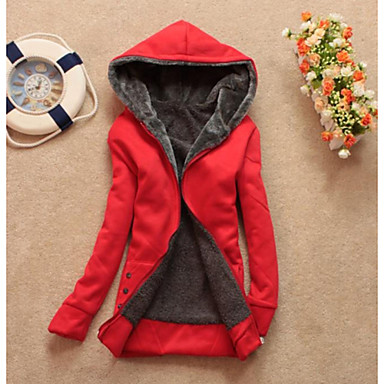 Women's Casual Fleece Lining Zipper Thicken Hoodie Sweatshirt Coat