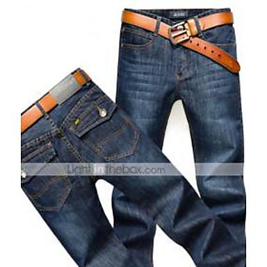 AOLONGQISHI® Men's Casual Pure Pant (Cotton/Denim)