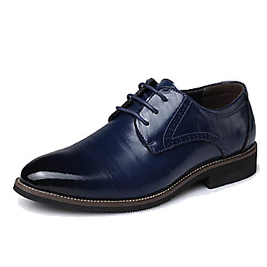 65b54e02efe92 رجالي أحذية رسمية جلد الربيع   الخريف أوكسفورد بني   أزرق   خمر   الحفلات و