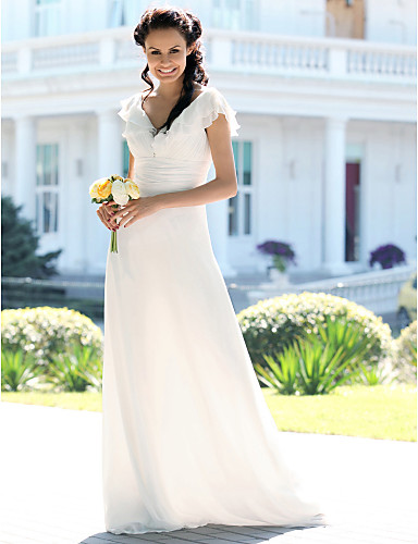 Lanting Bride® Trumpet / Mermaid Plus Sizes / Petite Wedding Dress ...