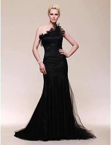 Vestido com tule preto