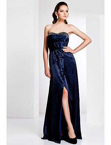 Vestido tomara-que-caia azul