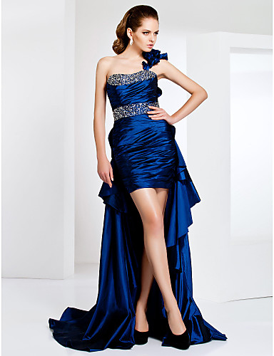 Buy TS Couture® Cocktail Party / Formal Evening Dress - Sexy High Low Plus Size Petite Sheath Column One ShoulderShort Mini Asymmetrical