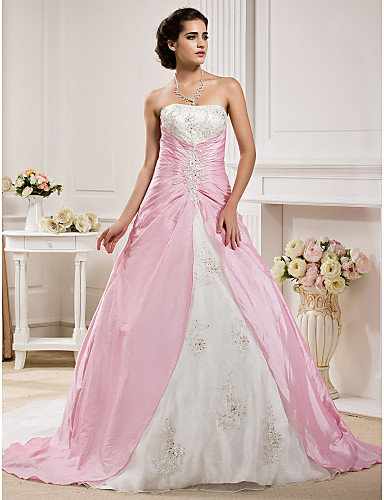 Ball Gown Wedding Dresses With Color : Lanting bride? ball gown petite plus sizes wedding dress