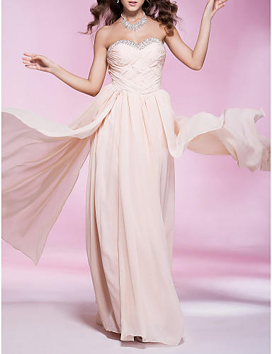 Buy TS Couture® Prom / Formal Evening Military Ball Dress - Elegant Plus Size Petite Sheath Column Strapless Sweetheart Floor-length Chiffon