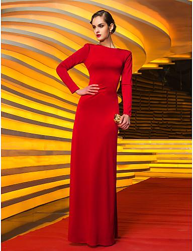 Vestido manga longa vermelho