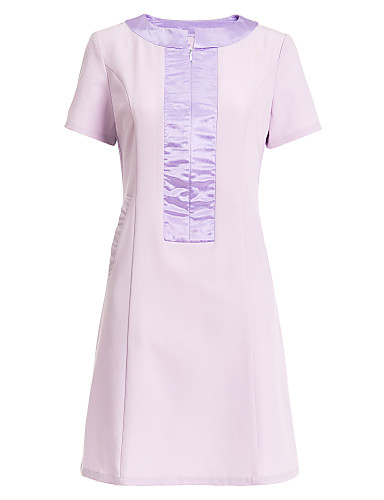 Spa uniforms women s short sleeve scoop neck spa dress for Spa uniform colors