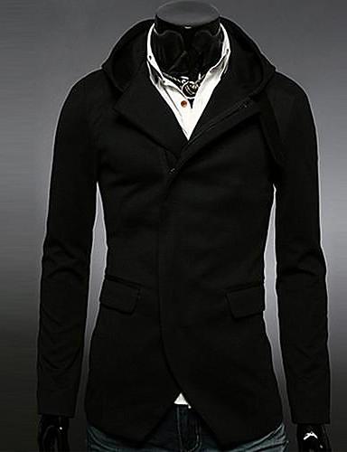 Buy Men's Fashion Casual Hooded Long Sleeve Overcoat