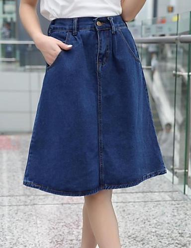 Buy Women's Restoring Ancient Ways Tall Waist Jeans Skirt