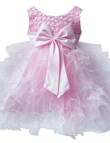 Buy Girl's Pink Floral Dress Sleeveless Ball Wedding Dresses Pageant Party 0~2Y Baby Girls