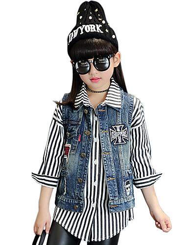 Buy Girl's Cotton Spring/Autumn Fashion Patchwork Casual Vest Cowboy Jacket Denim Coat
