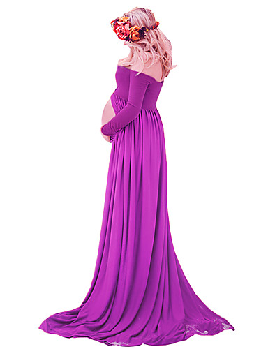 maternity chiffon gown split front maxi photography dress
