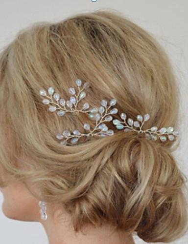 Women's Simple Bridal Hair Accessories Handmade Crystal ...