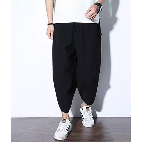 0a48af33e324 Men s Basic Chinoiserie Wide Leg Chinos Pants - Solid Colored