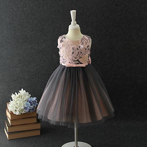 c95d4e5d6066 A-Line / Princess Medium Length / Midi Flower Girl Dress - Chiffon / Organza