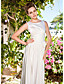 Lanting Bride A-line / Princess Petite / Plus Sizes Wedding Dress-Ankle-length Scoop Satin
