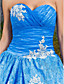 Ball Gown Sweetheart Floor-length Satin And Tulle Evening/Prom Dress With Appliques
