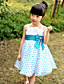 A-line / Ball Gown / Princess Knee-length Flower Girl Dress - Satin / Tulle Sleeveless Straps with