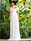 Lanting Bride® Sheath / Column Petite / Plus Sizes Wedding Dress - Chic & Modern / Elegant & Luxurious / Reception Sweep / Brush Train