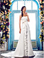 Lanting Bride® A-line Petite / Plus Sizes Wedding Dress - Classic & Timeless / Elegant & Luxurious Sweep / Brush Train One Shoulder