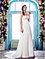 LAN TING BRIDE A-line Wedding Dress - Classic & Timeless Elegant & Luxurious Simply Sublime Sweep / Brush Train Sweetheart Chiffon with