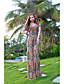 HERA Dame Sommer V Neck Kortærmet Floral Print Bohemia Dress