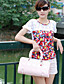 мода стиль кружева украшены футболку белого