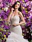 Lanting Bride® Wijd uitlopend Bruidsjurk Hofsleep Hartvormig Organza met