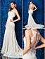 Lanting Bride® Trompet / zeemeermin Petite / Grote Maten Bruidsjurk Doorzichtig Kapelsleep Met sieraad Kant met