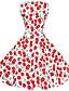 Мэгги Тан женские 50s старинных вишня рокабилли Хепберн кинозвезды потому партия качели платье 570