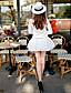 Shorts ( Poliéster ) MULHERES - Sexy / Casual / Fofo Cintura Alta - Shorts