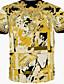Menn Fritid Trykk T-skjorte,Bomull Kortermet-Dyremønster