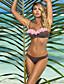 Egyszínű Pánt nélküli Női Bikini,Párnás melltartó Poliészter