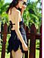 Kvinner Rynker Ensfarget Grime Bikini En del Nylon Spandex