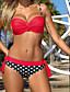Pöttyös Pánt nélküli Női Bikini Poliészter