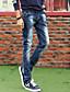 Herren Sweatpants-Einfarbig Freizeit Baumwolle Blau