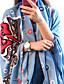Damer Vintage / Kontor / Casual Bomuld Halstørklæde-Trykt mønster Rektangulær / Uendelighedshalstørklæde