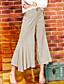 liangsanshi kvinners solid beige bootcut bukser, street chic
