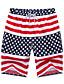 Masculino Shorts Casual / Esporte / Tamanhos Grandes Estampado Poliéster Vermelho