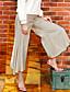 liangsanshi naisten vankka beige bootcut housut, katu chic