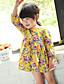 Baby Kleid-Lässig/Alltäglich Druck Baumwolle Sommer Blau / Gelb