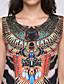 루즈핏 드레스 캐쥬얼/데일리 섹시 줄무늬,라운드 넥 무릎 위 민소매 블랙 폴리에스테르 여름 중간 밑위 약간의 신축성