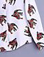 Nais- Pitkähihainen Keskipaksu Paitapuserokaula-aukko Polyesteri Kaikki vuodenajat Vintage Bile Paita,Painettu Valkoinen / Vihreä