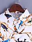 Polyester Medium Langermet,Skjortekrage Skjorte Trykt mønster Alle sesonger Vintage Ut på byen Dame