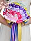Bryllupsblomster Rund Roser Buketter Bryllup Fest & Aften Polyester Sateng Blonde Perle Skum Rhinstein 9.84 tommer (ca. 25cm)
