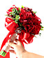 Bryllupsblomster Rund Roser Buketter Bryllup Fest & Aften Polyester Sateng Taft Blonde Spandex Perle Tørrede Blomster7.87 tommer (ca.