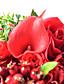 """Hääkukat Pyöreä Ruusut Kukkakimput Häät Juhlat/Ilta Polyesteri Satiini Tafti Pitsi Elastaani Helmi Kuivakukka 7,87""""(noin 20cm)"""